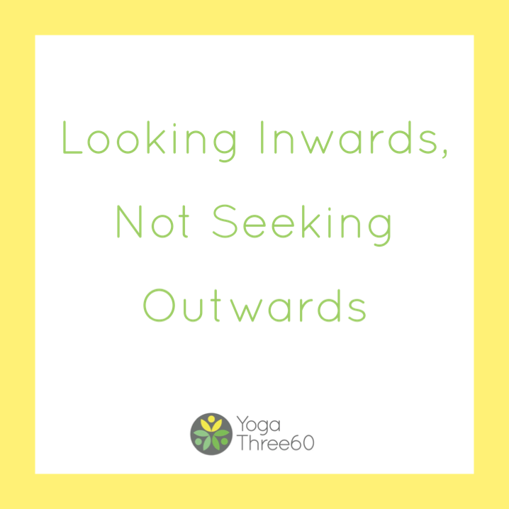 December: Looking Inwards, Not Seeking Outwards