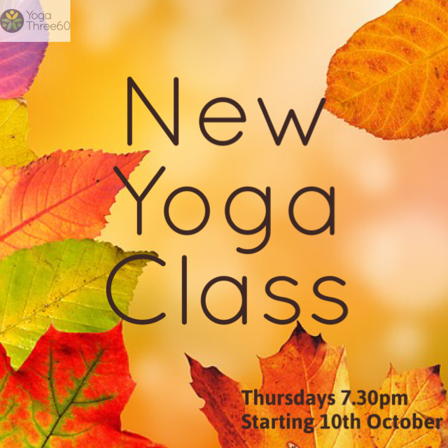 New Thursday Evening Yoga Classes Starting In October