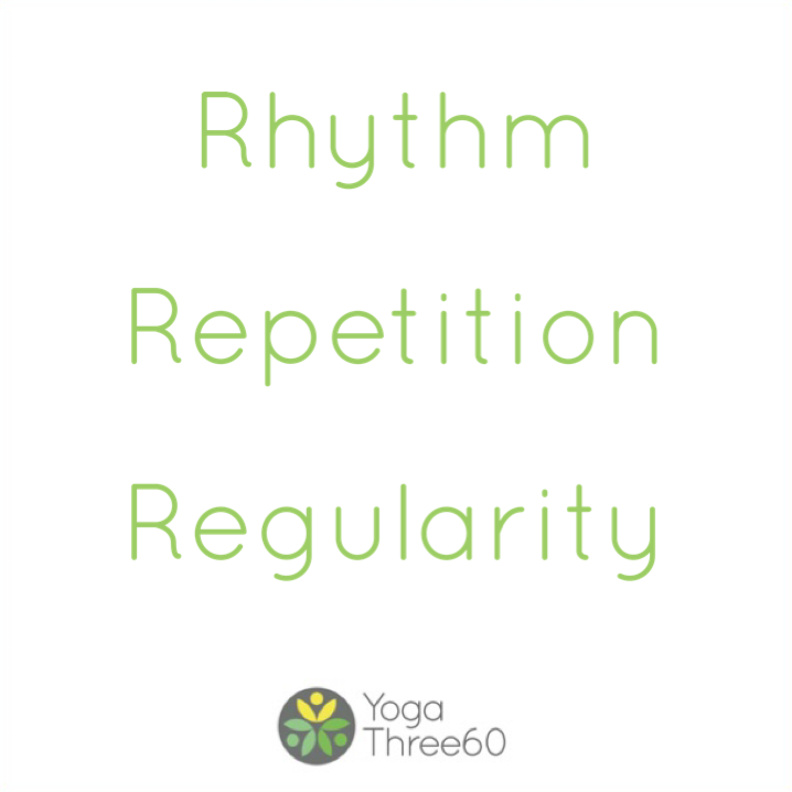 May: Rhythm. Repetition. Regularity.